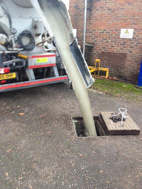 Solid Filling Redundant Underground Fuel Tanks