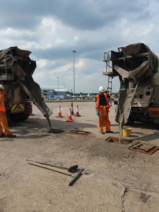 Underground Fuel Tanks being Decommissioned for Abandonment