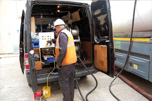 Mobile fuel polishing