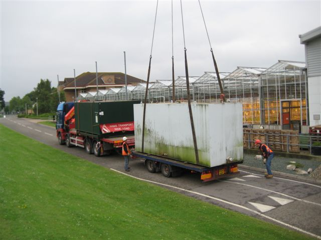 Removal of bulk fuel tanks for disposal off site